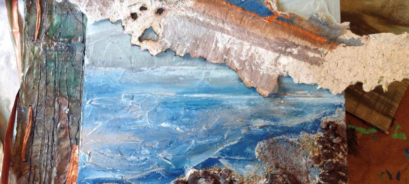 Jule Rymer, encaustic mixed media
