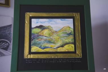 Paul Steer - https://artsinthetawevalley.com/paul-steer-fresco-watercolour-and-acrylic-on-plaster-of-paris/