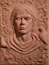Naomi Bunker My interpretation of Saint Francis Fired clay relief 43cm x 60cm https://www.facebook.com/Naomi-Bunker-475066142623485/ www.naomibunkerartist.co.uk