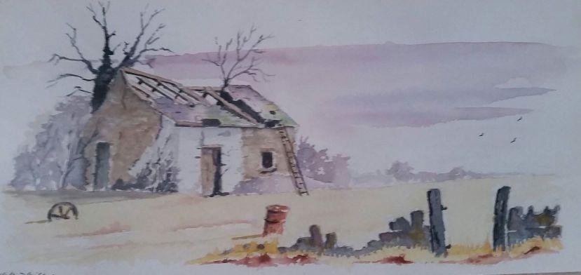 Walford Davies, watercolour