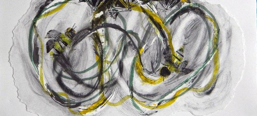 Vivian Rhule, Oil Multi medium Abstract Prints, feltedlandscape