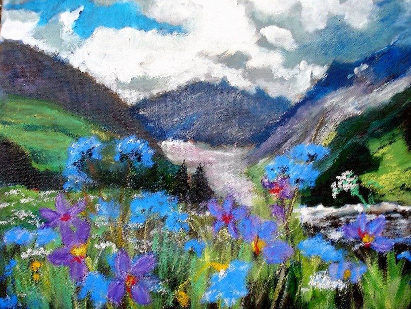 Lynn Gould, acrylics andpastels